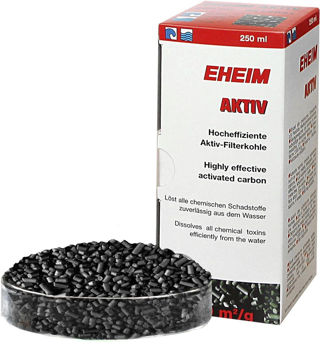 Наполнитель для фильтра Eheim Aktiv Carbon, угольный, 250 мл2513021Уголь Ehaim KARBON обеспечивает быстрый сбор растворенных в воде вредных веществ,пестицидов.Не содержит тяжелых металлов, обладает нетральным уровнем pH. AKTIV KARBON Обладает большей эффективностью по сбору вредных веществ.