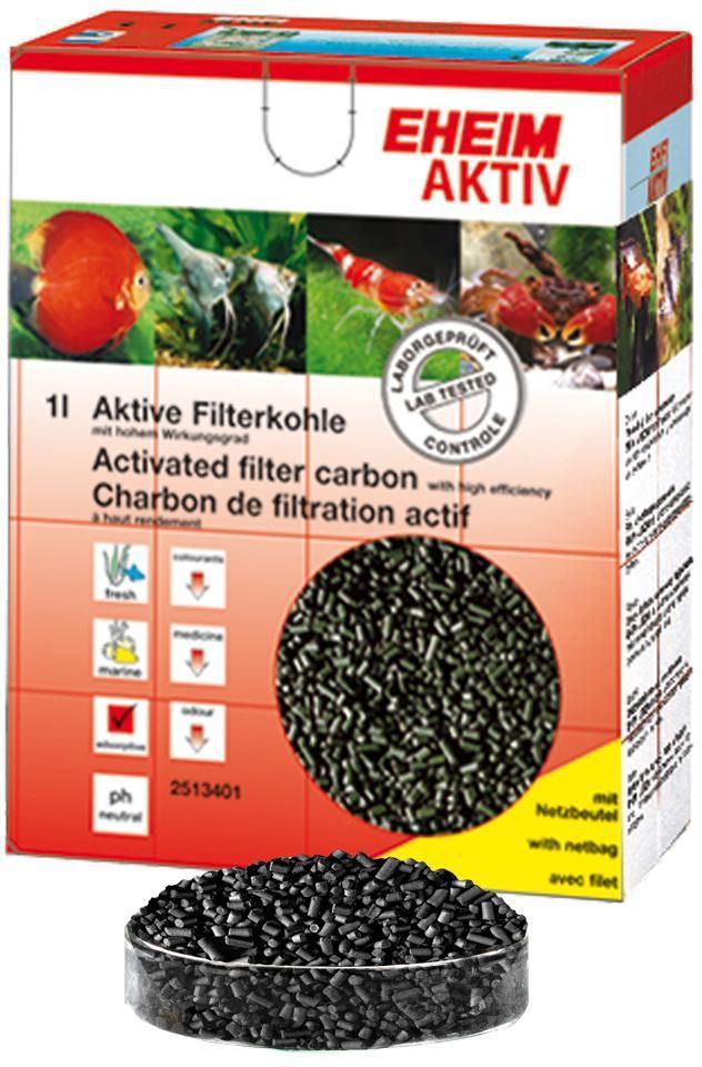 Наполнитель для фильтра Eheim Aktiv Carbon, угольный, 2 л2513051Уголь Ehaim KARBON обеспечивает быстрый сбор растворенных в воде вредных веществ,пестицидов.Не содержит тяжелых металлов, обладает нетральным уровнем pH. AKTIV KARBON Обладает большей эффективностью по сбору вредных веществ.