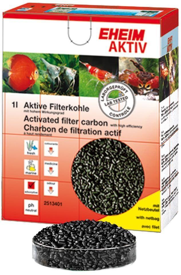 Наполнитель для фильтра Eheim Aktiv Carbon, угольный, 1 л2513101Уголь Ehaim KARBON обеспечивает быстрый сбор растворенных в воде вредных веществ,пестицидов.Не содержит тяжелых металлов, обладает нетральным уровнем pH. AKTIV KARBON Обладает большей эффективностью по сбору вредных веществ.