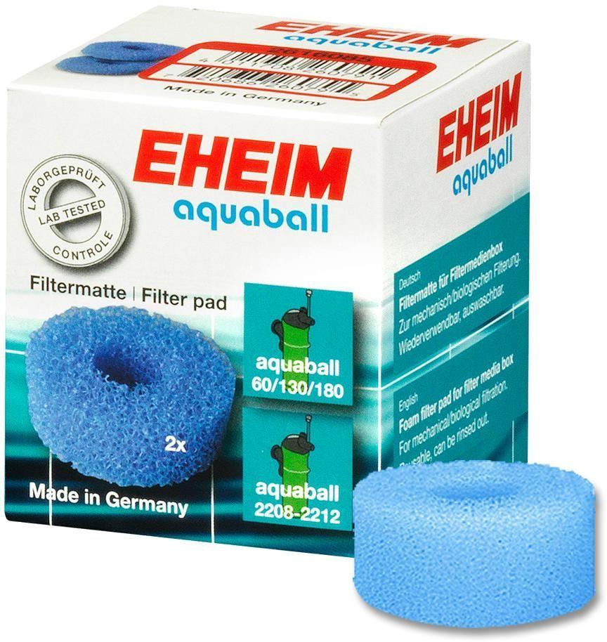 Наполнитель для фильтра Eheim Aquaball 60/130/180, поролон, 2 шт2616085Губка пористая для фильтров AQUABALL обеспечивает механическую и биологическую очистку воды.