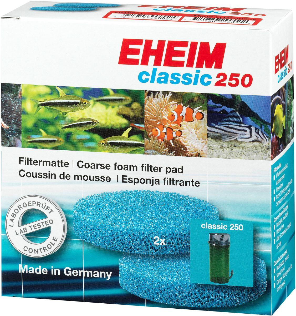 Наполнитель для фильтра Eheim Classic 250, поролон, 2 шт2616131Губка пористая для фильтров CLASSIC для механической и биологической очистки воды.