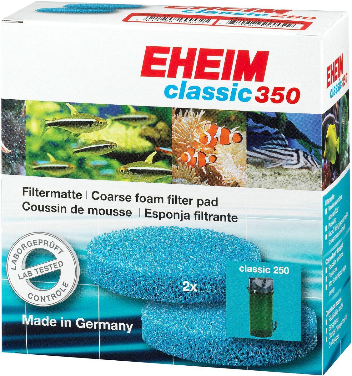Наполнитель для фильтра Eheim Classic 350, поролон, 2 шт2616151Губка пористая для фильтров CLASSIC для механической и биологической очистки воды.