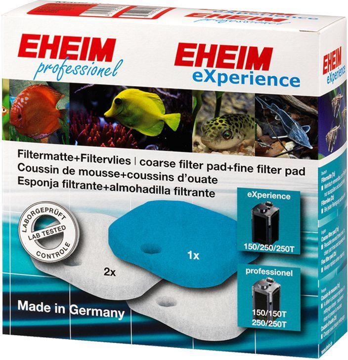 Наполнитель для фильтра Eheim Experience 150/250, 3 шт2616220Набор фильтрующих губок для фильтра EXPERIENCE. В набор входят: 1 губка из поролона для префильтра и 4 синтепоновые губки тонкой очистки.