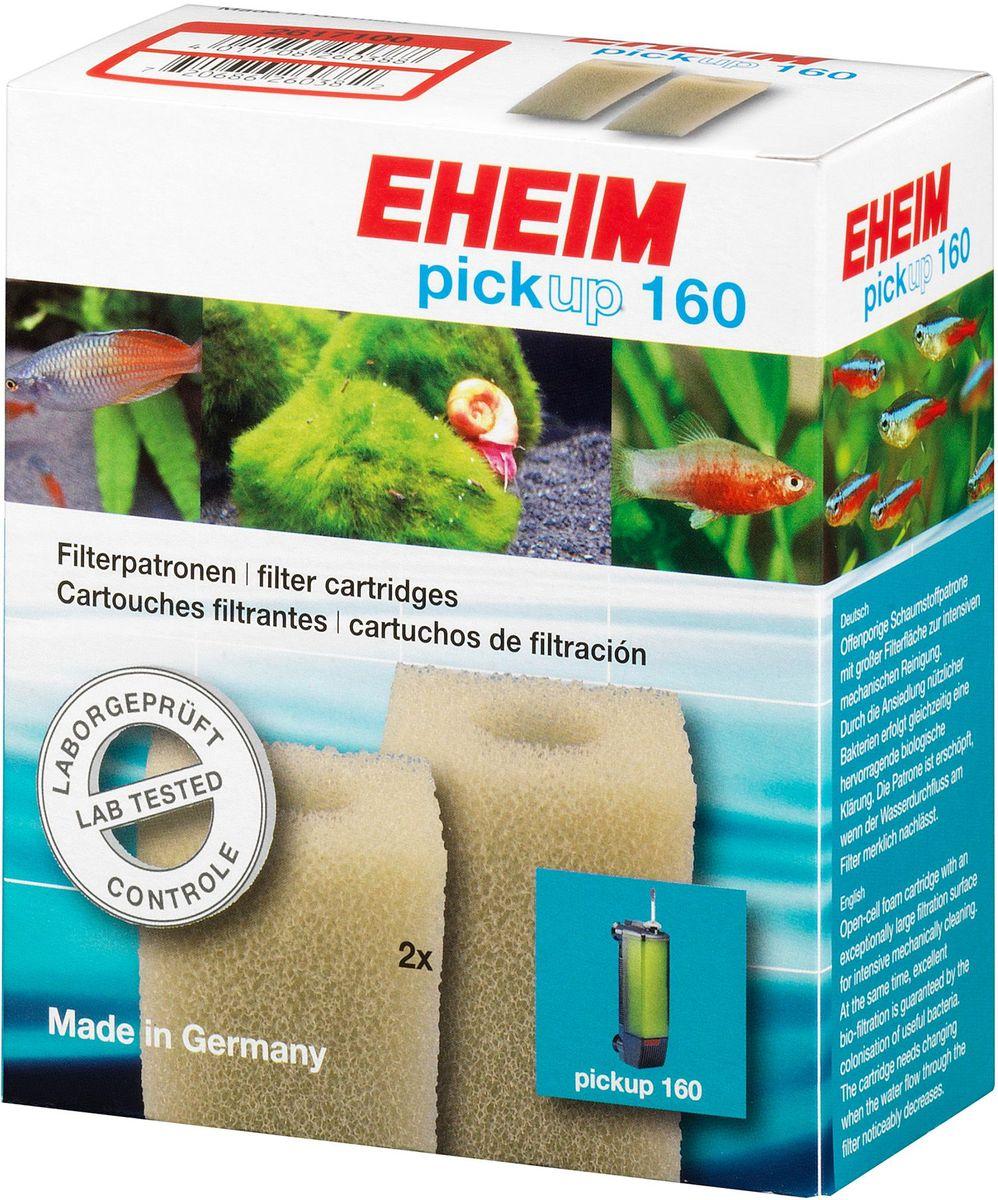 Картридж для фильтра Eheim Pickup 160, поролон, 2 шт2617100Картридж фильтрующий из пористой губки для фильтров PICKUP обеспечивает грубую очистку воды.