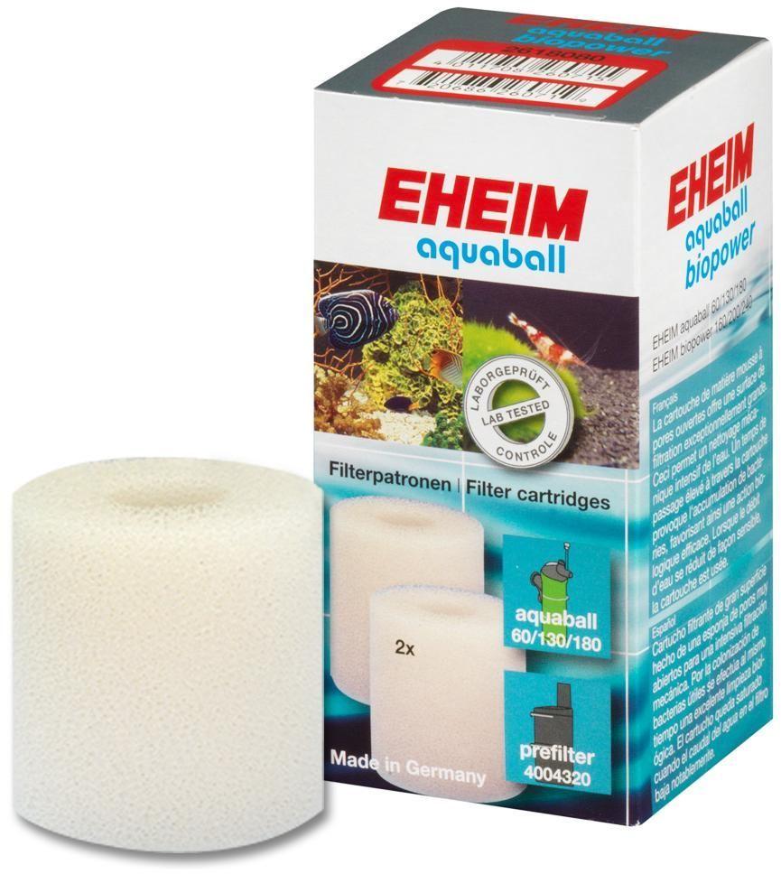 Картридж для фильтра Eheim Aquaball Biopower, поролон, 2 шт2618080Картридж фильтрующий из губки для фильтров AQUABALL-60/130/180 BIOPOWER 160/200/240 предназначен для механической и биологической очистки воды