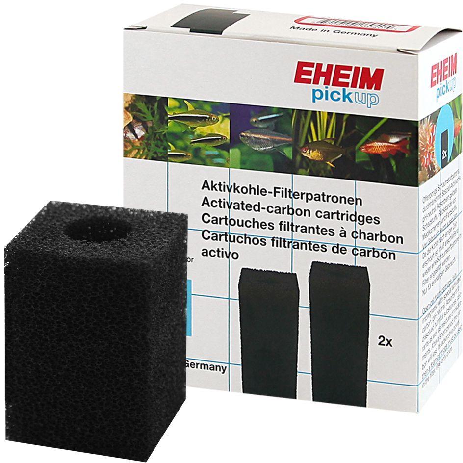 Картридж для фильтра Eheim Pickup 60, поролон угольный, 2 шт2627080Картридж из пористой губки с активированным углем для фильтров PICKUP применяется при запуске аквариума или после медикаментозного лечения.