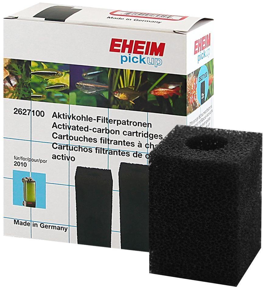 Картридж для фильтра Eheim Pickup 160, поролон угольный, 2 шт2627100Картридж из пористой губки с активированным углем для фильтров PICKUP применяется при запуске аквариума или после медикаментозного лечения.