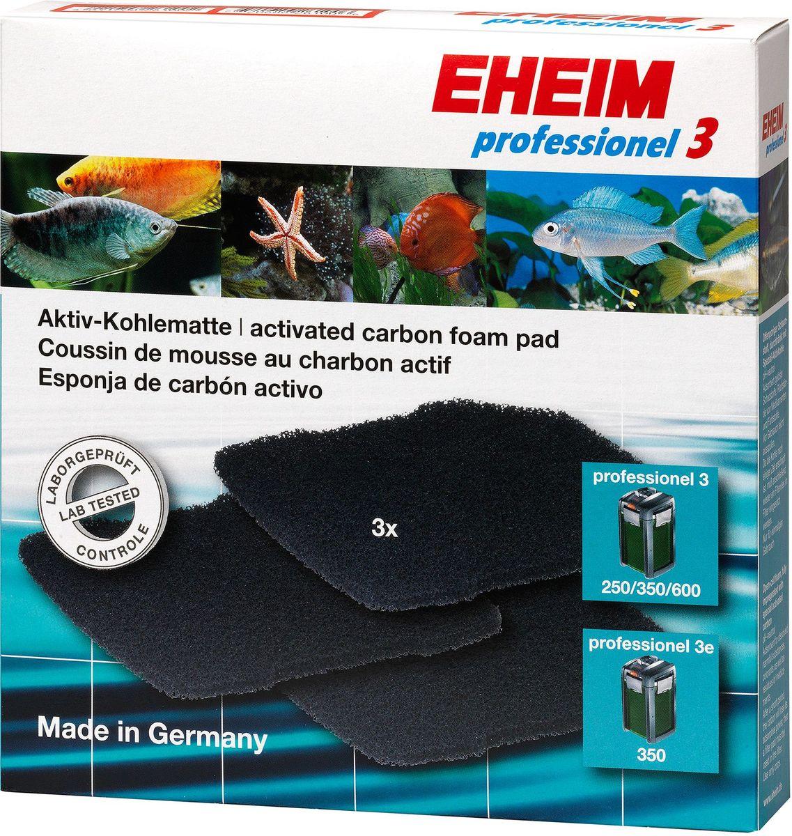 Наполнитель для фильтра Eheim Professionel 3 250/350/600, 3 шт2628710Набор угольных губок для фильтра PROFESSIONEL 3. Используется для удаления вредных веществ: остатков лекарст,хлора.