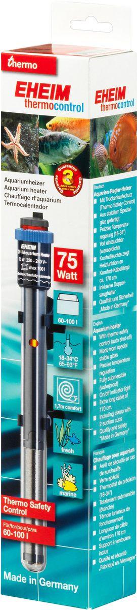 Нагреватель воды Eheim Jager, 75 ВТ (60-100 л)3613010Нагреватель изготовлен из высокопрочного специального стекла. Имеет удобную регулировку температуры.Герметичен, можно полностью погружать в воду. Обеспечивает высокую точность заданной температуры+/-0,5*С. Длина кабеля-170см. Для пресноводных и морских аквариумов.