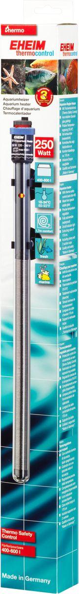 Нагреватель воды Eheim Jager, 250 ВТ (400-600 л)3618010Нагреватель изготовлен из высокопрочного специального стекла. Имеет удобную регулировку температуры.Герметичен, можно полностью погружать в воду. Обеспечивает высокую точность заданной температуры+/-0,5*С. Длина кабеля-170см. Для пресноводных и морских аквариумов.