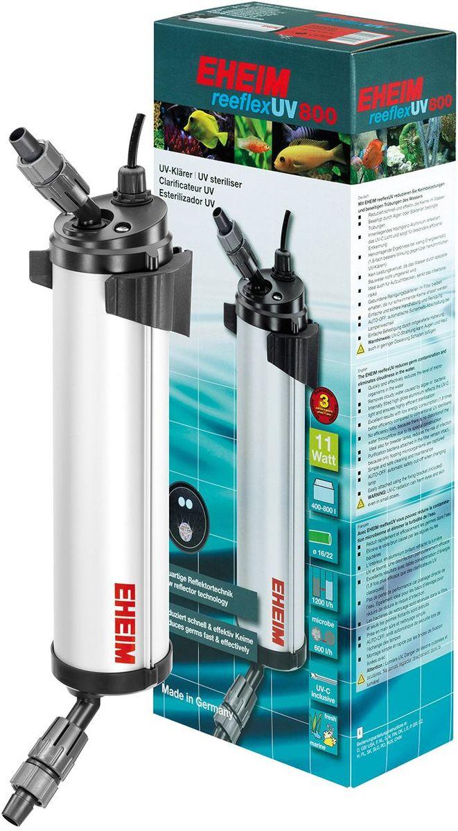 Стерилизатор для аквариума Eheim Reeflex-Uv-8003723210Быстро и эффективно снижает количество микроорганизмов в воде. Устраняет замутнение, вызванное водорослями или бактериями. Находящийся внутри глянцевый алюминиевый слой отражает УФ свет и обеспечивает особо эффективное обеззаораживание. Предотвращает потерю производительности благодаря специальной конструкции, сохраняющей движение воды. Также идеально подходит для отсадников, снижает риск инфекционного заражения.Фильтрующие бактерии, обитающие в субстракте, сохраняются до появления плавающих форм. Простой и безопасный в обращении и очистке. AUTO-OFF автоматическое предохранительное отключение при замене ламп.