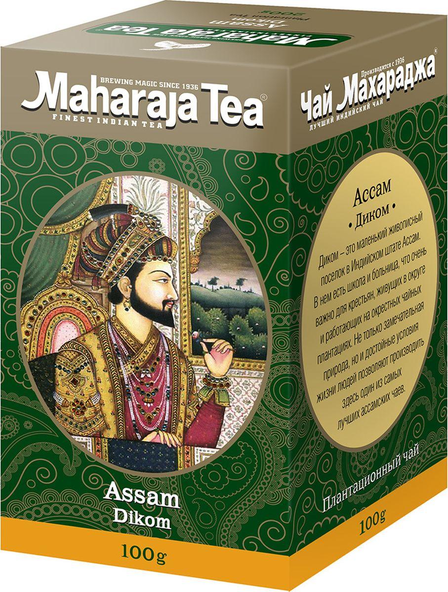 Maharaja Tea Диком чай черный байховый, 100 г00000000210Этот чай называют правильным благородным ассамом-не очень крупный, хорошо скрученный, имеет много типсов, тёмный настой и ожидаемая тёрпкость.