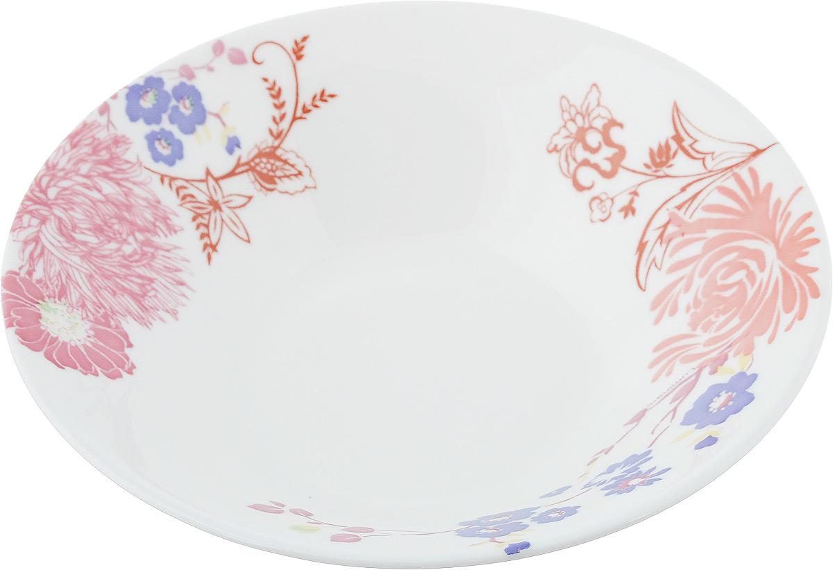 Салатник Luminarc Covernt Garden Alizee, диаметр 18 смL2859Салатник Luminarc Covernt Garden Alizee выполнен из высококачественного стекла. Он прекрасно впишется в интерьер вашей кухни и станет достойным дополнением к кухонному инвентарю. Салатник Luminarc Covernt Garden Alizee создаст прекрасное настроение на вашей кухне. В нем ваши любимые салаты будут смотреться по особенному свежо и аппетитно. Можно мыть в посудомоечной машине и использовать в СВЧ. Диаметр салатника (по верхнему краю): 18 см. Высота стенки салатника: 4,5 см.