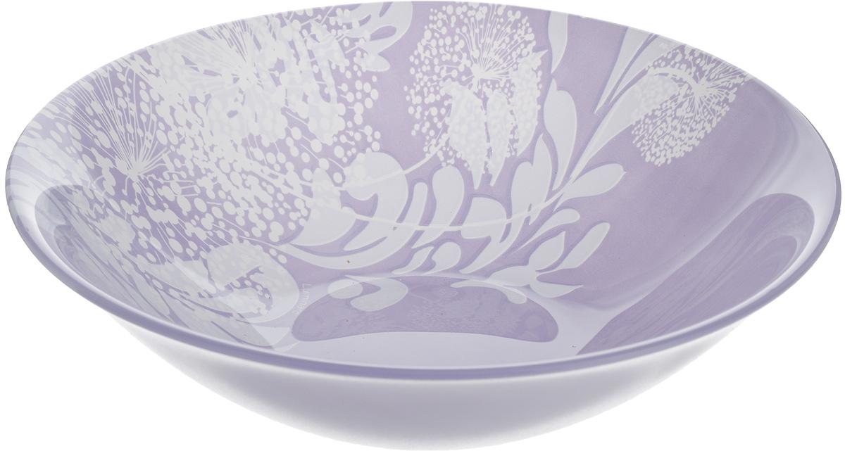 Салатник Luminarc Pium Violett, диаметр 17 смJ5574Великолепный круглый салатник Luminarc Pium Violett, изготовленный из ударопрочного стекла, прекрасно подойдет для подачи различных блюд: закусок, салатов или фруктов. С внутренней стороны изделие оформлено оригинальным цветочным принтом. Такой салатник украсит ваш праздничный или обеденный стол, а оригинальное исполнение понравится любой хозяйке. Бренд Luminarc - это один из лидеров мирового рынка по производству посуды и товаров для дома. В основе процесса изготовления лежит высококачественное сырье, а также строгий контроль качества. Товары для дома Luminarc уважают и ценят во всем мире, а многие эксперты считают данного производителя эталоном совершенства. Диаметр салатника (по верхнему краю): 17 см.