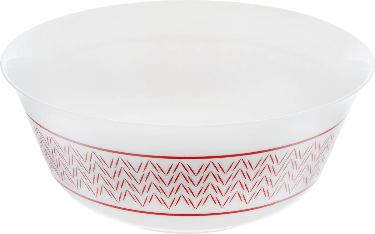 Салатник Luminarc Battuto, диаметр 24 смJ7841Великолепный круглый салатник Luminarc Battuto, изготовленный из ударопрочного стекла, прекрасно подойдет для подачи различных блюд: закусок, салатов или фруктов. Сдержанный стиль, простые формы и графический рисунок на белоснежном фоне - отличный вариант для повседневного пользования. Такой салатник украсит ваш праздничный или обеденный стол, а оригинальное исполнение понравится любой хозяйке. Бренд Luminarc - это один из лидеров мирового рынка по производству посуды и товаров для дома. В основе процесса изготовления лежит высококачественное сырье, а также строгий контроль качества. Товары для дома Luminarc уважают и ценят во всем мире, а многие эксперты считают данного производителя эталоном совершенства. Диаметр салатника (по верхнему краю): 24 см.