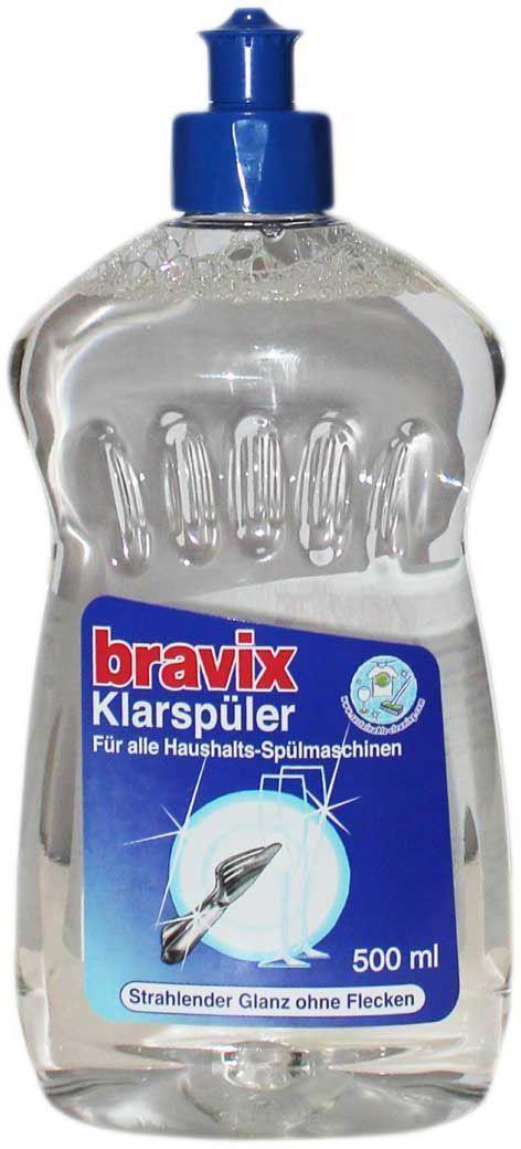 Ополаскиватель для посуды Bravix, для посудомоечных машин, 500 мл1530Новая формула ополаскивателя для посудомоечных машин Bravix деликатно заботится об идеальном сияющем блеске, надежно препятствует образованию пятен и подтеков после высыхания. Способ применения: добавить ополаскиватель в резервуар в соответствии с рекомендациями производителя ПММ. Состав: 5-15% неионные тензиды, отдушка.