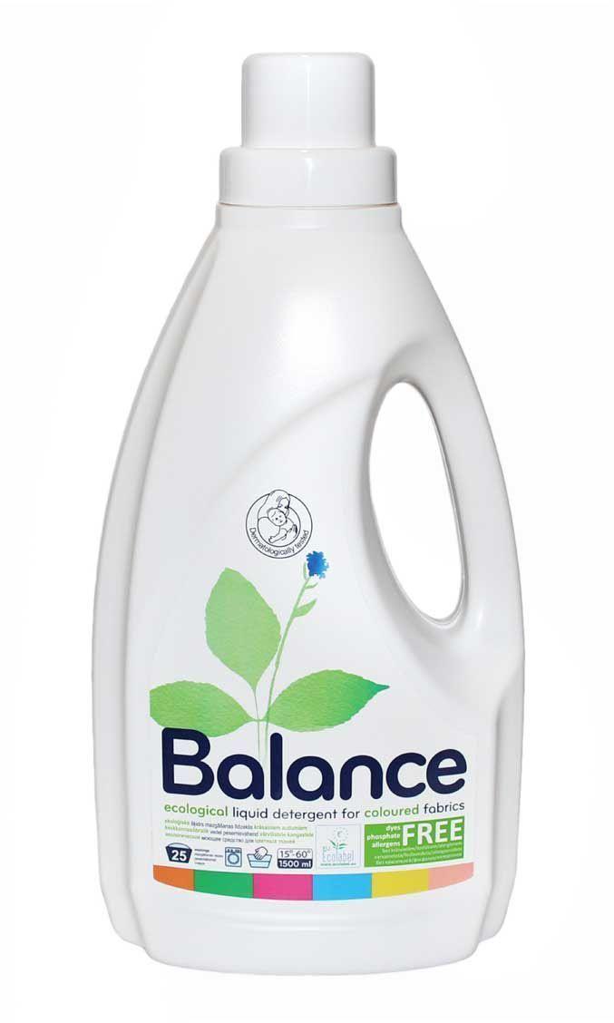 Эко-гипоаллергенное жидкое средство для стирки Balance, для цветного белья, на 30 стирок, 1,5 л 534784