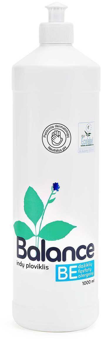 Эко-гипоаллергенное средство для мытья посуды Balance, концентрированное, 1 л534830Экологическое средство для мытья посуды, 500 мл. Без раздражителей - красителей и ароматизаторов, предназначено для мытья посуды вручную. Рекомендовано дерматологами к использованию аллергиками и людьми с чувствительной кожей. Имеет нейтральный рН. Оказывает более щадящее воздействие на руки, не сушит кожу, не повреждает ногти, не раздражает дыхательные пути. Легко биологически расщепляется при контакте с окружающей средой. Густая прозрачная жидкость создает нежную пену, которая эффективно удаляет жир и остатки пищи с посуды и стеклянных, керамических, каменных и металлических поверхностей. Применение: для мытья посуды рекомендуется использовать приготовленный раствор, а не проточную воду, поскольку так вы экономите электроэнергию, воду и сохраняете окружающую среду. Приготовление раствора для мытья посуды: разовая доза на 5 литров моющего раствора для легко загрязненной посуды - 2 мл (1/2 чайной ложки), для сильно загрязненной - 4 мл (1 чайная ложка) средства для мытья посуды....