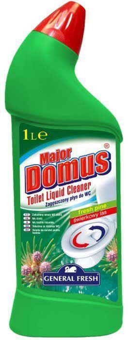 Концентрат для поддержания гигиены в туалете General Fresh Major Domus, 1 л. 583510583510Моющее средство Мајоr Domus предназначен для поддержания гигиены в туалете. Эффективно очищает труднодоступные места, предотвращает появление известкового камня и ржавчины. Активен также ниже уровня воды. Оставляет устойчивый и приятный запах.