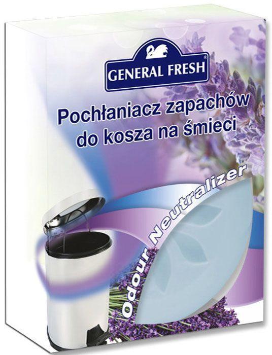 Поглотитель запахов General Fresh, для мусорных ведер, 1 шт. 587110587110Тщательно подобранная ароматическая композиция, основанная на запатентованной формуле, поможет эффективно побороть неприятные запахи из мусорного ведра. Поглотитель запахов для мусорных ведер, в отличие от обычных освежителей, не только маскирует тяжелый запах, но и устраняет его у самого источника, блокируя распространение по другим помещениям в доме. Наслаждайтесь приятным ароматом надолго.