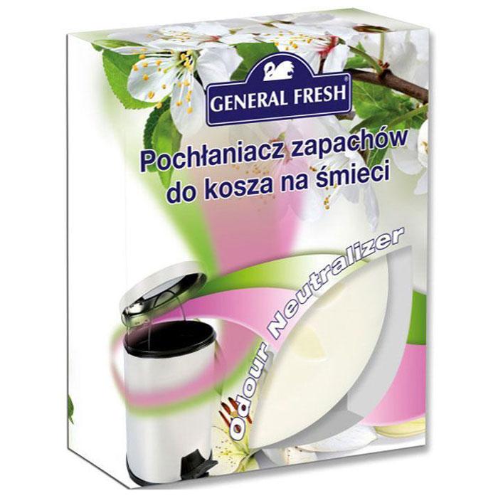 Поглотитель запахов General Fresh, для мусорных ведер, 1 шт. 587111587111Тщательно подобранная ароматическая композиция, основанная на запатентованной формуле, поможет эффективно побороть неприятные запахи из мусорного ведра. Поглотитель запахов для мусорных ведер, в отличие от обычных освежителей, не только маскирует тяжелый запах, но и устраняет его у самого источника, блокируя распространение по другим помещениям в доме. Наслаждайтесь приятным ароматом надолго.
