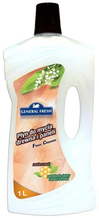 Жидкость General Fresh, для мытья деревянных и ламинированных полов, 1 л588011Специализированная жидкость для мытья деревянных и ламинированных полов General Fresh - незаменимое средство в каждом доме. Тщательно подобранная композиция моющих компонентов позволяет восстановить идеальную чистоту любого пола. Содержащийся в жидкости воск придает великолепный блеск, скрывает трещины и царапины, а также восстанавливает глубину цвета. Подходит для мытья всех типов напольных покрытий: ламината, напольных покрытий из ПВХ, дерева. Жидкость для мытья деревянных и ламинированных полов торговой марки General Fresh - это отличный способ сохранить пол в идеальном состоянии без лишних усилий.