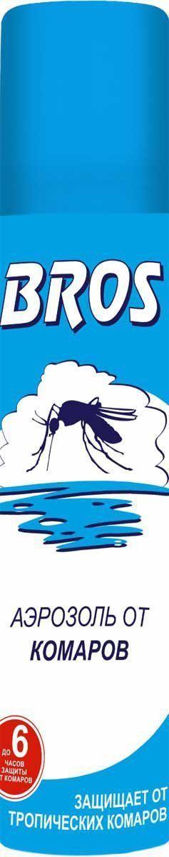 Аэрозоль BROS, от комаров, 90 мл706859BROS Аэрозоль от комаров. Препарат с репеллентным действием, обеспечивает длительную защиту от комаров и клещей. Форма спрея гарантирует удобство применения препарата. 90 мл Для защиты взрослых и детей старше 5 лет от нападения кровососущих насекомых (комаров, мокрецов, москитов, мошек, слепней, блох) при нанесении на открытые части тела, одежду, занавеси, сетки и другие изделия из ткани. Применение: Перед применением баллон встряхнуть. Распылить средство на открытые части тела с расстояния 20 - 25 см. Для обработки лица и шеи средство распылить на ладонь и, не втирая, нанести на кожу. Средство относится к высшей категории эффективности. Время защитного действия: при нанесении на кожу - до 6 часов, при нанесении на одежду - 20 суток. Состав: N,N–диэтилтолуамид (ДЭТА) 15 г/100 г (15%), спирт этиловый, функциональные и технологические компоненты.