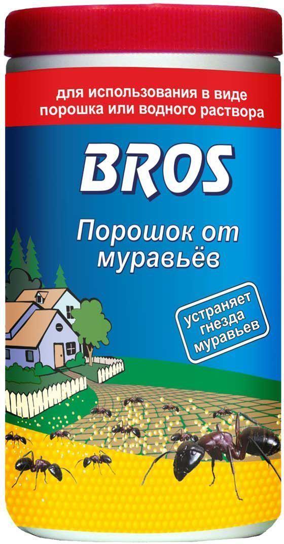 Порошок от муравьев BROS, 100 г706867BROS Порошок от муравьев. Препарат для борьбы с муравьями в форме гранулированной пищевой отравы. Специально подобранные составляющие делают препарат исключительно привлекательным для насекомых и обеспечивают его высокую эффективность уже после первого применения. Универсальный порошок для борьбы с муравьями. Используется как в сухом виде для посыпания, так и в растворенном виде для поливки (полностью растворим). 100 г Порошок от белого до серого цвета с характерным запахом для уничтожения муравьев в помещениях и в непосредственной близости от них (на террасах, в беседках и др.). Для использования в виде порошка или водного раствора. Применение: Порошок для посыпки: рассыпать тонким слоем (ок. 10 г/м2) около гнезд и на путях передвижения, трещинах, щелях и швах, откуда будет перенесен в гнездо уничтожая колонию. Жидкость для полива: порошок развести в воде, тщательно помешивая, из расчета 100 г на 2,5 л воды. Обработку проводить сразу после приготовления раствора....