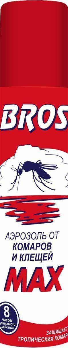 Аэрозоль BROS Max, от комаров и клещей, 90 мл706894BROS Аэрозоль от комаров и клещей MAX. Препарат с репеллентным (отпугивающим) действием, обеспечивает длительную защиту от комаров и клещей. Форма спрея гарантирует удобство применения препарата. Активная защита. 90 мл Для защиты взрослых людей от нападения кровососущих насекомых (комаров, мокрецов, москитов, мошек, слепней, блох) при нанесении на открытые части тела, одежду, занавеси, сетки и другие изделия из ткани, а также таежных и лесных клещей при нанесении на одежду. Применение: Использовать только по назначению. Перед применением баллон встряхнуть. Распылить средство на открытые части тела с расстояния 20 - 25 см. Для обработки лица и шеи средство распылить на ладонь и, не втирая, нанести на кожу. Для защиты от клещей обрабатывать весь комплект одежды из расчета 24 сек. на 1 м2, особенно тщательно - вокруг щиколоток, коленей, бедер, плечевого пояса, манжет и мест возможного проникновения клещей к телу. Средство относится к высшей категории эффективности. Время...
