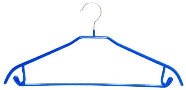 Вешалка широкая Attribute Hanger, с крючками, цвет: синийAHS571