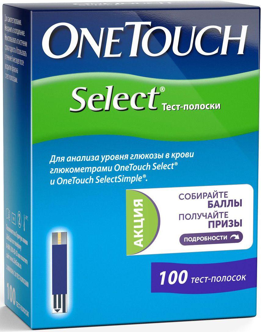 Тест-полоски OneTouch Select, 100 шт2977В упаковке - 4 тубуса по 25 тест-полосок. Для использования с прибором OneTouch Select.