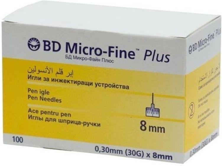 Иглы для шприц-ручки BD Micro-Fine Plus, 0,30 мм (30G) х 8 мм, 100 шт371Одноразовые иглы для шприц-ручек. Инсулиновые иглы универсальные и подходят ко всем типам шприц-ручек. Длина иглы 8 мм. Толщина иглы 0,30мм (30G)