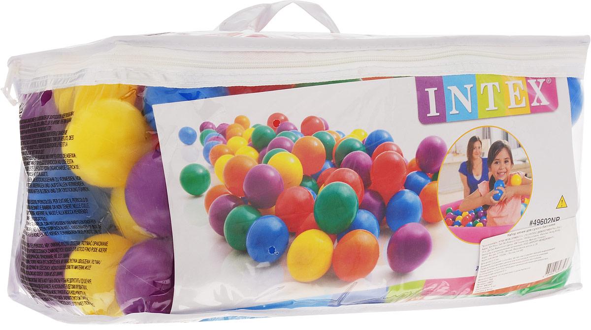 Intex Набор пластиковых шариков для сухого бассейна диаметр 6,5 см 100 шт с49602