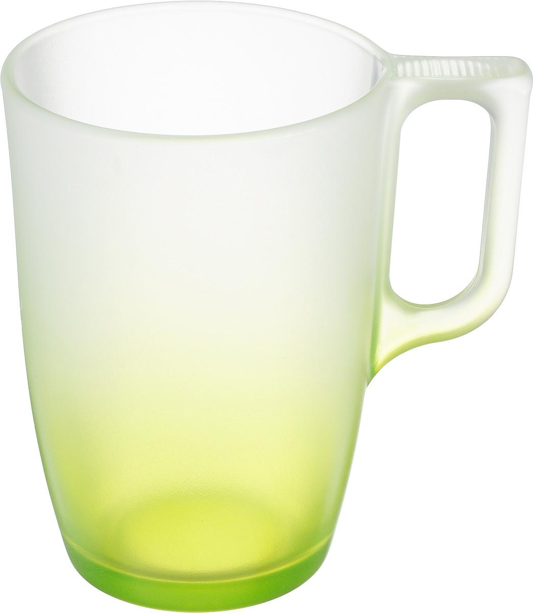 Кружка Luminarc Мариса, цвет: прозрачный, зеленый, 320 млJ7600Кружка Luminarc Мариса изготовлена из упрочненного стекла. Такая кружка прекрасно подойдет для горячих и холодных напитков. Она дополнит коллекцию вашей кухонной посуды и будет служить долгие годы. Можно использовать в микроволновой печи и мыть в посудомоечной машине. Диаметр кружки (по верхнему краю): 7,7 см. Высота стенки кружки: 11,2 см. Бренд Luminarc - это один из лидеров мирового рынка по производству посуды и товаров для дома. В основе процесса изготовления лежит высококачественное сырье, а также строгий контроль качества.