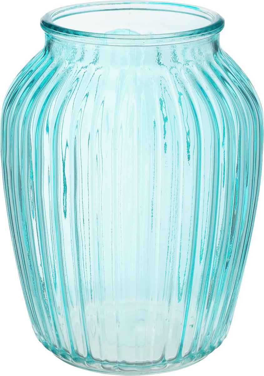 Ваза Nina Glass Луана, цвет: голубой, высота 19,5 смNG92-021M_голубойВаза Nina Glass Луана выполнена из высококачественного стекла и имеет изысканный внешний вид. Такая ваза станет ярким украшением интерьера и прекрасным подарком к любому случаю. Не рекомендуется мыть в посудомоечной машине. Высота вазы: 19,5 см. Диаметр вазы (по верхнему краю): 10,5 см.