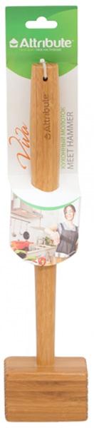"Молоток для мяса Attribute ""Viva Bamboo"", 38 х 3,5 см. ATB512"