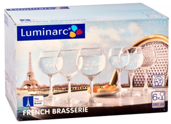 Набор бокалов Luminarc Французский ресторанчик, 280 мл, 6 штH8170Прозрачные бокалы классической формы подкупают своим простым изяществом. Набор бокалов Французский ресторанчик марки Luminarc подойдет для сервировки семейного ужина или более торжественного мероприятия. Бокалы изготовлены из фирменного ударопрочного стекла со специальным покрытием, они не впитывают запахи и обладают антибактериальными свойствами. Набор состоит из 6 бокалов, объемом 280 мл. Их можно мыть в посудомоечной машине. Высота бокала: 16 см. Диаметр бокала: 6 см.