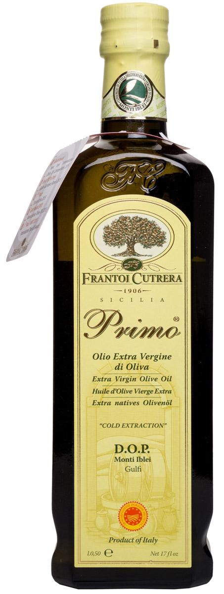 Frantoi Cutrera Оливковое масло нерафинированное Extra Vergine, 500 мл8030853001024Нерафинированное оливковое масло Примо первого холодного отжима, собранное в период с 1 по 31 октября, произведенное на основе оливок сорта тонда иблеа. Масло Примо - это оливковое масло высшего качества, полученное из оливок механическим путем.