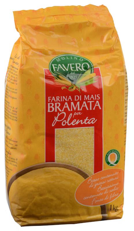 Molino Favero Полента кукурузная Брамата, 1 кг 8000439101301