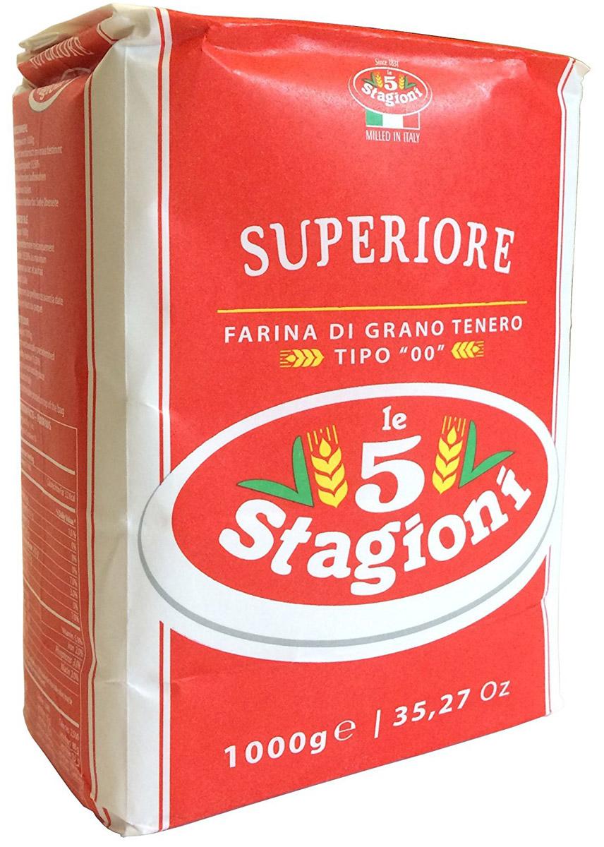 5 Stagioni Мука для пиццы из мягких сортов пшеницы, 1 кг 8021274041003