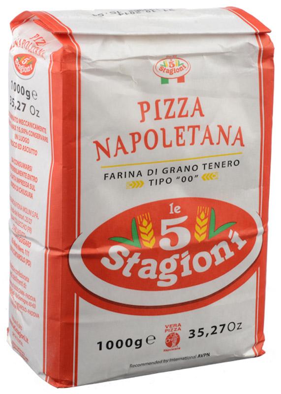 5 Stagioni Napoletana Pizza Мука для пиццы из мягких сортов пшеницы, 1 кг8021274070010Специальная эластичная мука, предназначенная для приготовления традиционной неаполитанской пиццы. Компания 5 Stagioni является официальным членом общества поставщиков муки для неаполитанской пиццы Associazione Verace Pizza Napoletana. Реологические характеристики продукта и его эластичность позволили получить широкое признание этого продукта итальянскими и зарубежными пицца-мейкерами.