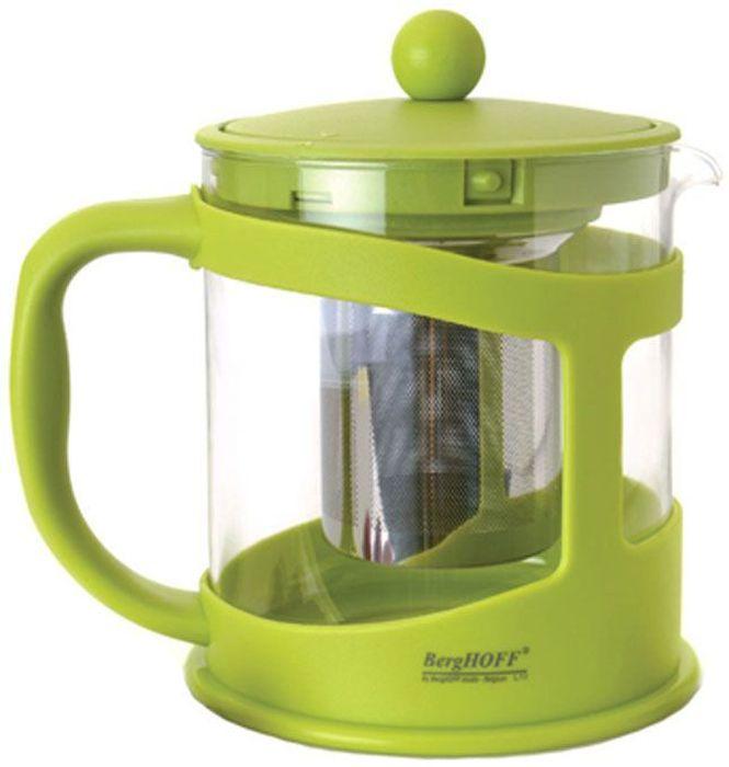 Чайник заварочный BergHOFF Studio, цвет: лаймовый, 600 мл1106841