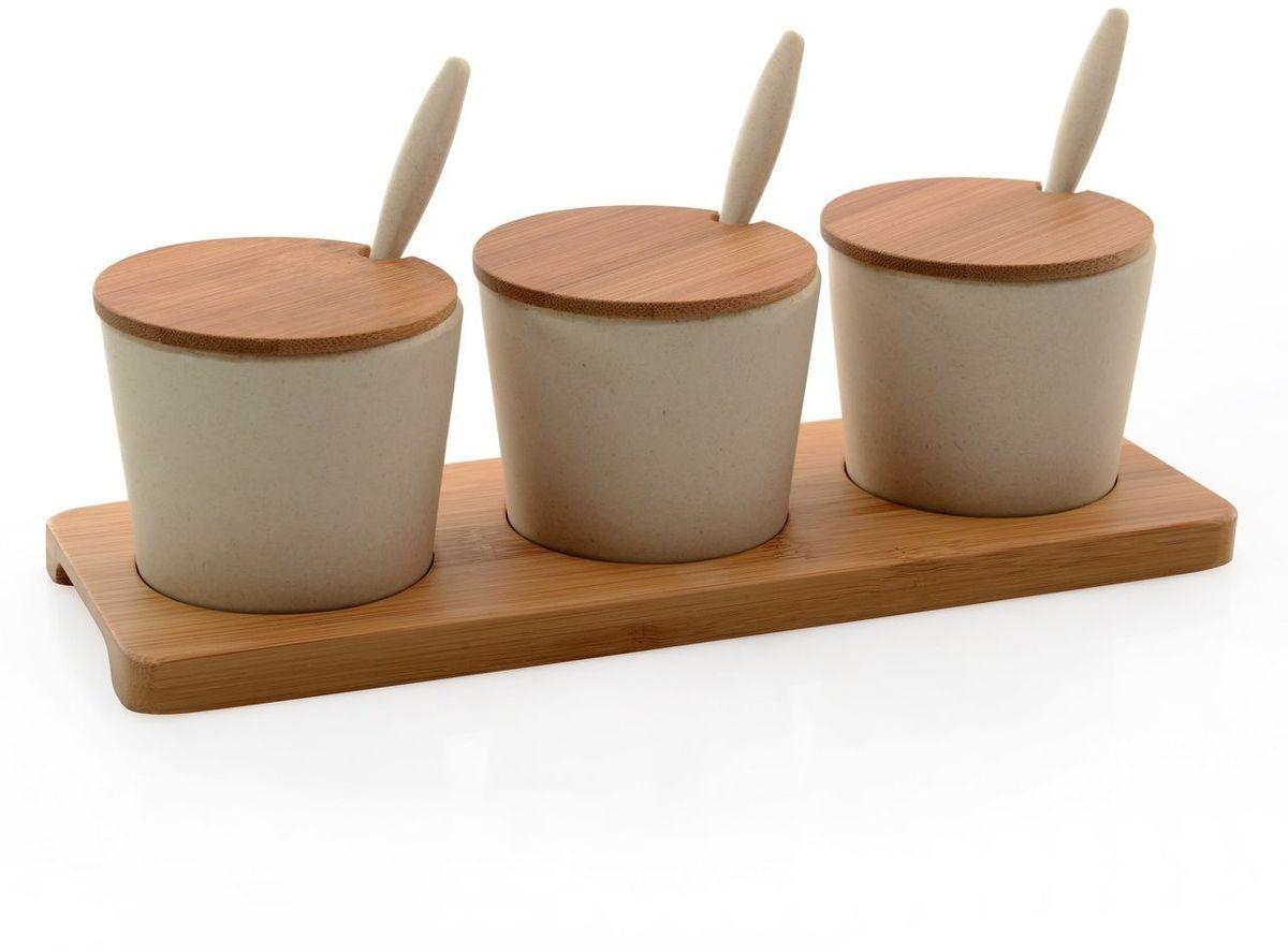 Набор баночек BergHOFF Cook&Co, на подставке, цвет: бежевый, 150 мл, 10 предметов2800050