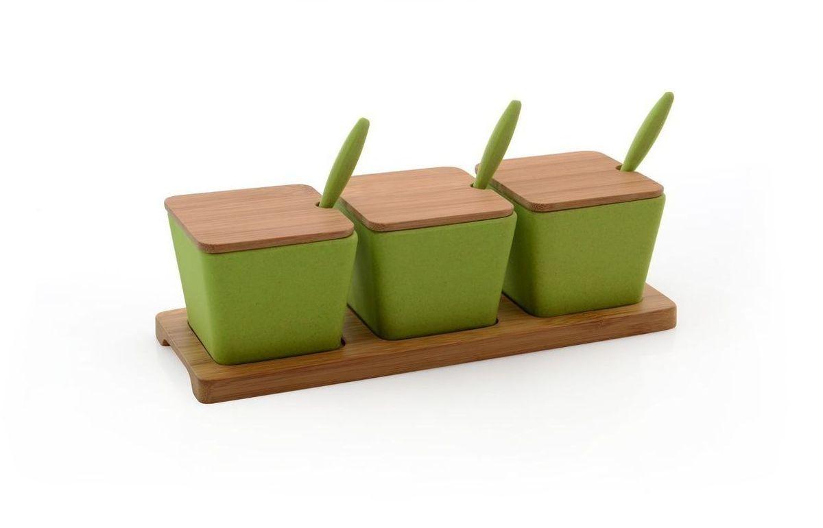 Набор баночек BergHOFF Cook&Co, на подставке, цвет: зеленый, 150 мл, 10 предметов2800051