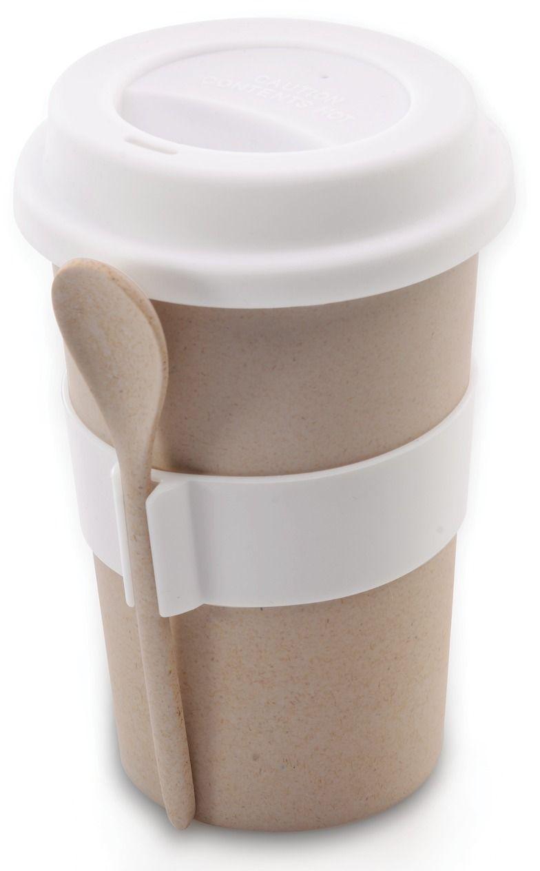 Кружка кофейная BergHOFF Cook&Co, с ложкой, цвет: бежевый, 500 мл2800056