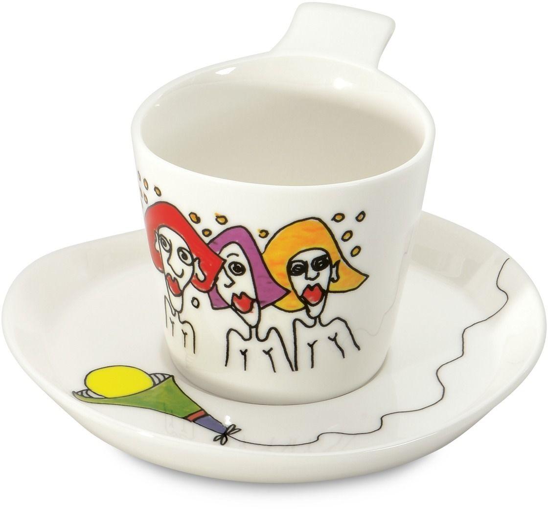 Набор кофейных чашек BergHOFF Eclipse, с блюдцем, 180 мл, 2 шт3705006