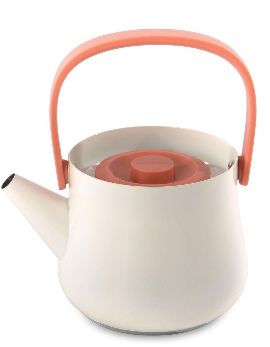 Чайник заварочный BergHOFF Ron, с ситечком, цвет: белый, 1 л3900048