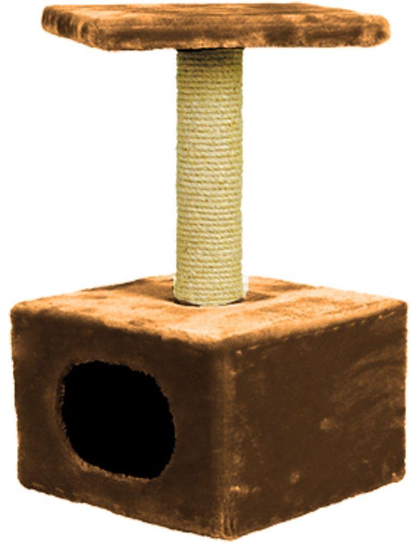 Дом для кошек Зооник, цвет: коричневый, 34 х 34 х 60 см2201-2Дом для кошек Зооник изготовлен из высококачественного искусственного меха. Просторный домик подойдет для котят и для взрослых кошек. Над основным местом отдыха находится дополнительная площадка, на которой ваш любимец сможет полежать свесив лапки. Также предусмотрена когтеточка из комбинированной веревки (пенька/сизаль). Домики ТМ Зооник отличает высокое российское качество при доступной цене. Цвет коричневый.