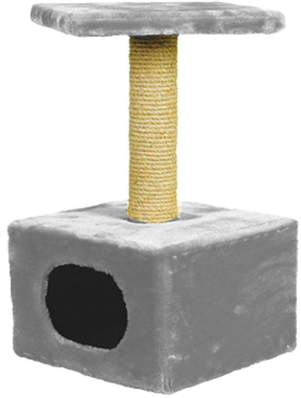 Дом для кошек Зооник, цвет: серый, 34 х 34 х 60 см2201-3Дом для кошек Зооник изготовлен из высококачественного искусственного меха. Просторный домик подойдет для котят и для взрослых кошек. Над основным местом отдыха находится дополнительная площадка, на которой ваш любимец сможет полежать свесив лапки. Также предусмотрена когтеточка из комбинированной веревки (пенька/сизаль). Домики ТМ Зооник отличает высокое российское качество при доступной цене. Цвет серый.