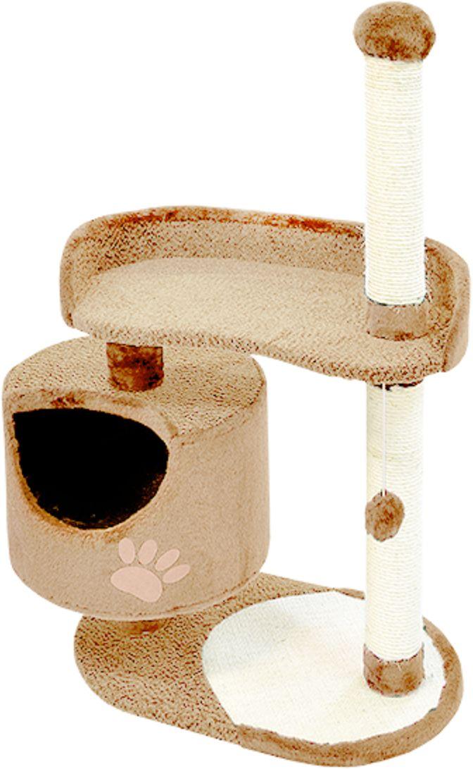 Комплекс для кошек Зооник, цвет: бежевый, 82 х 43 х 121 см22100-1Дом для кошек круглый Зооник изготовлен из коврового велюра. Просторный домик подойдет для котят и для взрослых кошек. Над основным местом отдыха находится дополнительная площадка, на которой ваш любимец сможет полежать свесив лапки. Также предусмотрена когтеточка из комбинированной веревки(пенька/сизаль) и подвесная игрушка. Крышу домика украшает аппликация в виде кошки. Домики ТМ Зооник отличает высокое российское качество при доступной цене. Цвет бежевый.